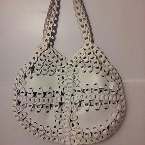 🇺🇸White Leather Woven Bag🇺🇸